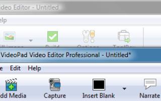 Как пользоваться редактором VideoPad Video Editor