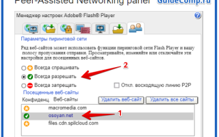 Настройка Flash Player для Яндекс.Браузера