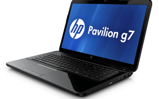 Поиск и скачивание драйверов для HP Pavilion G7