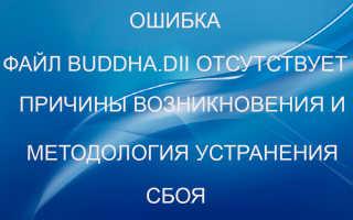 Отсутствует Buddha dll что делать