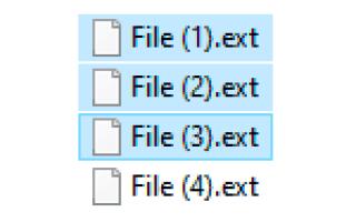 Как переименовать группу файлов по порядку