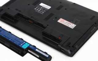 Решение проблемы с обнаружением батареи в ноутбуке