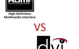 HDMI или DVI для компьютера что лучше